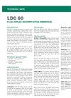 LDC 60 Elastomeric Waterproof Membrane - Technical Data Sheets