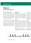 TW-17 Wide Flexible PVC Base-Seal Profile Waterstop - Technical Data Sheets