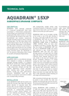 AQUADRAIN 15XP Prefabricated Sheet Drain Composite - Technical Data Sheets
