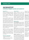 AKWASTOP Hydrophilic Rubber Waterstop - Technical Data Sheets