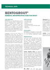 BENTOGROUT High-Solids Grout - Technical Data Sheets