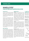 SWELLTITE Composite Bentonite Waterproofing System - Technical Data Sheets