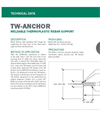 TW-ANCHOR Weldable Thermoplastic Rebar Support - Technical Data Sheets