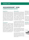 AQUADRAIN 30H Prefabricated Sheet Drain Composite - Technical Data Sheets