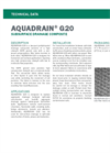 AQUADRAIN G20 Subsurface Drainage Composite - Technical Data Sheets