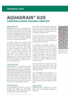 AQUADRAIN GS25 Subsurface Geonet Drainage Composite - Technical Data Sheets