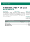 GREENSCAPES GS-232 Water Retention Mat - Technical Data Sheets