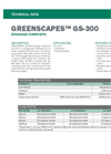 GREENSCAPES GS-300 Drainage Mat - Technical Data Sheets