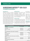GREENSCAPES GS-310 Drainage Mat - Technical Data Sheets