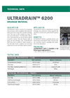 ULTRADRAIN 6200 Drainage Material - Technical Data Sheets