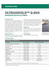 ULTRASHIELD G-800 Non-Woven Geotextile Fabric - Technical Data Sheets
