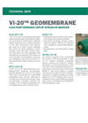 VI-20 GEOMEMBRANE High-Performance Vapor Intrusion Barrier - Technical Data Sheets