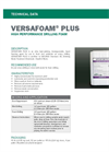 VERSAFOAM PLUS High Performance Drilling Foam - Technical Data Sheets