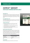 CETCO GROUT High-Solids Powdered Bentonite Grout - Technical Data Sheets