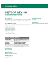 CETCO MX-80 30-100 Mesh Bentonite - Technical Data Sheets