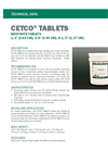 CETCO Bentonite Tablets - Technical Data Sheets