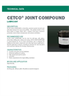 CETCO Joint Compound Lubricant - Technical Data Sheets