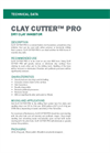 CLAY CUTTER PRO Dry Clay Inhibitor - Technical Data Sheets