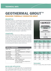 GEOTHERMAL Enhanced Thermally Conductive Grout - Technical Data Sheets