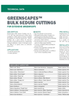 GREENSCAPES Sedum Cuttings for Extensive Greenroofs - Technical Data Sheets