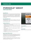 PUREGOLD High-Solids Grout - Technical Data Sheets