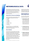 Meteorological Data Tech Sheet (PDF 92 KB)