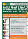 Large Scale Solar Power Legislation, Regulation & Policies Conference Brochure