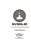 SVSolid Tutorial Manual (PDF 3.921 MB)