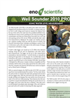 Well Sounder - 2010 PRO – Sonic Water Level Measurement Brochure