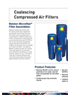 Balston Coalescing Compressed Air Filters Brochure