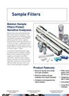Analyzer/Sample Filters Brochure