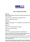 Gen II Product Fault Codes- Brochure