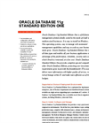 Oracle Database 11g Standard Edition One Brochure