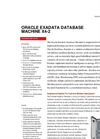 Oracle - Model X6-2 - Exadata Database Machine Brochure
