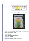 Model KI-ESK1 - Clear Pack Spill Response Kit Datasheet