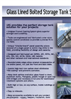 UIG - Glass Fused to Steel Bolted Tanks - Brochure