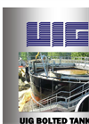 UIG Glass Fused to Steel Bolted Tanks for Water and Wastewater Storage Brochure