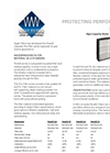 PanelS - G4 - High Capacity Water Proof Pre-Filters  Brochure