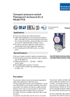 Model PCA - Pressure Switches Brochure