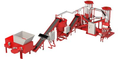 Copper Recovery - Model Phoenix XD - Wire Chopping Line with Pre-Shredder and Variable Speed Dosing Silo