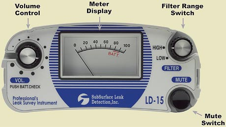Use the Meter Display to compare the loudness of leaks at different locations.