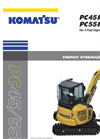 Komatsu - Model PC55MR-5 - Compact Hydraulic Excavator - Brochure