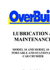 Car Crusher Lubrication & Maintenance Guide