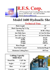 R.E.S. 1600 Hydraulic Alligator Shear - Brochure