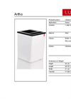 Lune - Model Artho Series - Small Waste Separation System - Datasheet