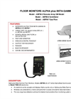 Alpha Plus Beta Gamma - Model ABFM-5, 6, & 7 - Floor Monitors - Brochure
