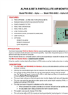 Model FM-9MA-2 - Alpha & Beta Particulate Air Monitor - Brochure