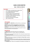 Model HSM-10A & HSM-10B - Hand & Shoe Monitor - Brochure