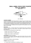 Model Live-1 - Small Animal Whole Body Counter for Live Animals - Brochure