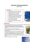 TA - Model PTG-9 - Portable Tritium Air Monitor - Brochure